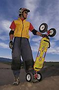 Portrait of Mountain boarder.