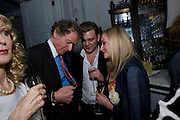 RICHARD BRIGGS; HARRY HARRISON; JULIA TARASOVA, Launch of Stephanie Theobald's book' A Partial Indulgence'  drinks provided by Ruinart champage nd Snow Queen vodka. The Artesian at the Langham, 1c Portland Place, Regent Street, London W1