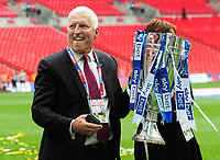 Football - 2018 / 2019 EFL Sky Bet League Two Play-Off Final - Newport County vs. Tranmere Rovers<br /> <br /> Tranmere owner, Mark Palios with the trophy, at Wembley Stadium.<br /> He played for Tranmere in 1973<br /> <br /> COLORSPORT/ANDREW COWIE