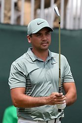 June 24, 2018 - Cromwell, Connecticut, United States - Jason Day tees off the first hole during the final round of the Travelers Championship at TPC River Highlands. (Credit Image: © Debby Wong via ZUMA Wire)