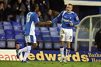 Photo: Rich Eaton.<br /> <br /> Birmingham City v Preston North End. Coca Cola Championship. 09/12/2006. Gary McSheffrey right is congratulated by Cameron Jerome after his first goal