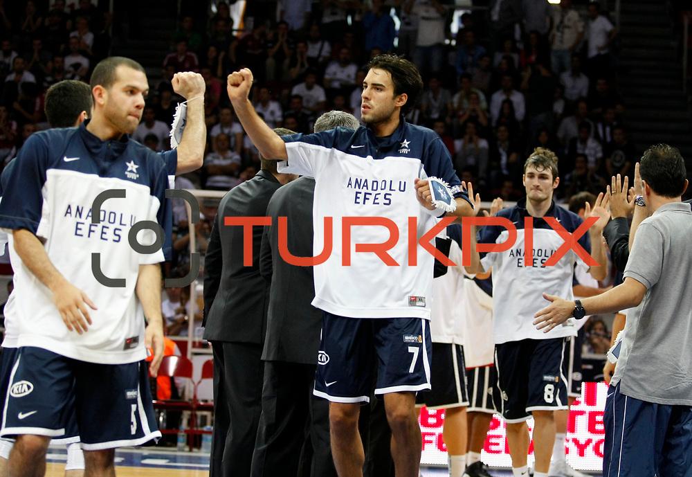 Anadolu Efes's Sasha Vujacic during their 28. Men's Basketball Presidential Cup match Besiktas between Anadolu Efes at the Abdi ipekci Arena in Istanbul Turkey on Sunday 30 September 2012. Photo by TURKPIX