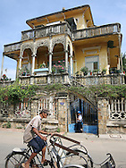 House built with neo-classical style architecture in Phan Thiet, Binh Thuan Province, Vietnam, Southeast Asia