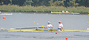 Poznan, POLAND,  GBR M2-. Bow Peter REED and Andy TRIGGS HODGE, move away from the start pontoon in their semi final of the men's pair on the sixth day of the 2009 FISA World Rowing Championships. held on the Malta Rowing lake, Thursday  27/08/2009  [Mandatory Credit. Peter Spurrier/Intersport Images]