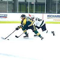 during the Men's Hockey Home Game on Sat Oct 27 at Co-operators Center. Credit: Matt Johnson/Arthur Images