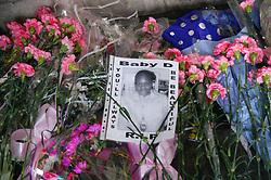 Flower memorial for murdered school girl Danielle Beccan,