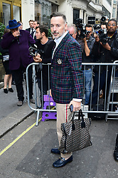 David Furnish arrives to attend the Victoria Beckham London Fashion Week SS19 show in Dover Street, London.