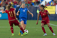 Finland's Linda Sallstrom and Spain's Alexia Putellas and Leila Ouahabi during the match of  European Women's Championship 2017 at Leganes, between Spain and Finland. September 20, 2016. (ALTERPHOTOS/Rodrigo Jimenez)