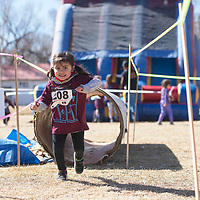 Emra Villar competes in the Kids Quad in the 3-4 year old girls age group Saturday afternoon in Grants. Villar, 3, won second place in her age group.