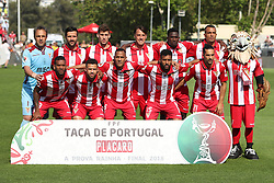 May 20, 2018 - Lisbon, Portugal - Aves' line up team before the Portugal Cup Final football match CD Aves vs Sporting CP at the Jamor stadium in Oeiras, outskirts of Lisbon, on May 20, 2015. (Credit Image: © Pedro Fiuza/NurPhoto via ZUMA Press)