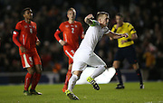 James Ward-Prowse (Southampton), England U21 scores from the penalty spot  during the UEFA European Championship Under 21 2017 Qualifier match between England and Switzerland at the American Express Community Stadium, Brighton and Hove, England on 16 November 2015.