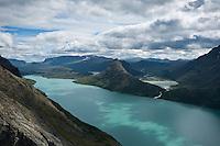 Scenic lake Gjende, Jotunheimen national park, Norway