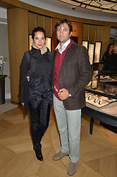 ASTRID MUNOZ and EDUARDO NOVILLO ASTRADA at the draw for the Jaeger-LeCoultre Gold Cup held at Jaeger-LeCoultre, 13 Old Bond Street, London on 8th June 2015.