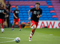 CARDIFF, WALES - Saturday, June 5, 2021: Wales' Neco Williams, wearing a Hope United t-shirt, during the pre-match warm-up before an International Friendly between Wales and Albania at the Cardiff City Stadium in their game before the UEFA Euro 2020 tournament. (Pic by David Rawcliffe/Propaganda)