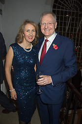 LORD & LADY LEITCH at a gala dinner to celebrate 15 Years of mothers2mothers hosted by Annie Lennox held at One Marylebone, 1 Marylebone Road, London NW1on 3rd November 2015.
