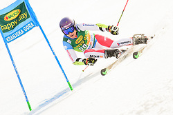 March 9, 2019 - Kranjska Gora, Kranjska Gora, Slovenia - Cedric Noger of Switzerland in action during Audi FIS Ski World Cup Vitranc on March 8, 2019 in Kranjska Gora, Slovenia. (Credit Image: © Rok Rakun/Pacific Press via ZUMA Wire)