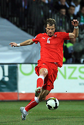 David Rozenhal of Czech Republic  at the 8th day qualification game of 2010 FIFA WORLD CUP SOUTH AFRICA in Group 3 between Slovenia and Czech Republic at Stadion Ljudski vrt, on March 28, 2008, in Maribor, Slovenia. Slovenia vs Czech Republic 0 : 0. (Photo by Vid Ponikvar / Sportida)