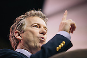 Sen. Rand Paul (R-KY) speaks during day two of the Conservative Political Action Conference (CPAC) at the Gaylord National Resort & Convention Center in National Harbor, Md.