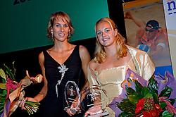 08-10-2006 VOLLEYBAL: GALA 2006: DOETINCHEM<br /> In de schouwburg van Doetinchem werd het volleybalgala 2006 gehouden / Merel Mooren en Rebekka Kadijk<br /> ©2006-WWW.FOTOHOOGENDOORN.NL