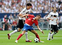 Fotball , 31. mai 2008 , privatkamp , Tyskland - Serbia<br /> .l. Michael Ballack Deutschland , Susa Ilic , Torsten Frings <br /> Norway only