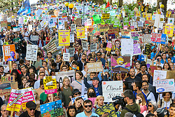 © Licensed to London News Pictures. 20/09/2019. London, UK. Tens of thousands of students of all ages take part in global climate strike  in Westminster calling for urgent action to tackle climate change. Photo credit: Dinendra Haria/LNP