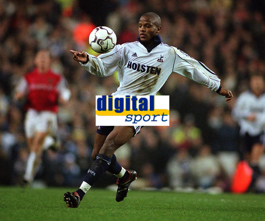 Alton Therlwell - Tottenham. Tottenham Hotspurs v Arsenal. FA Premiership, 18/12/00. Credit: Colorsport.