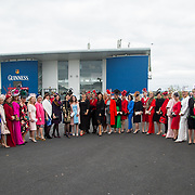 08.10.17.            <br /> Contestants for the  Limerick Racecourse Keanes Most Stylish Lady competition lined out with Celia Holman Lee and Sinead O'Brien. Picture: Alan Place