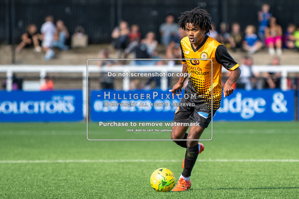 BROMLEY, UK - SEPTEMBER 08: Bradley Pritchard, of Cray Wanderers FC,  during the Emirates FA Cup First Qualifying Round match between Cray Wanderers FC and Bedfont Sports Club at Hayes Lane on September 8, 2019 in Bromley, UK. <br /> (Photo: Jon Hilliger)