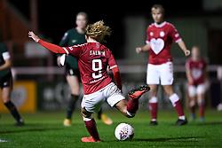 Ebony Salmon of Bristol City Women has a shot on goal - Mandatory by-line: Ryan Hiscott/JMP - 14/11/2020 - FOOTBALL - Twerton Park - Bath, England - Bristol City Women v Tottenham Hotspur Women - Barclays FA Women's Super League