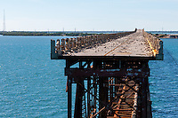US, Florida Keys. Old Bahia Honda Bridge, Bahia Honda Key.