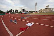 Empty race track