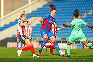 Players of both teams rush for the ball during the FA Women's Championship match between Sheffield United Women and Crystal Palace Women at Sir Tom Finney Stadium, Preston, United Kingdom on 1 November 2020.