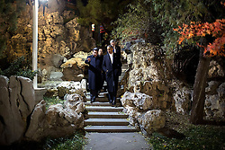 President Barack Obama and President Xi Jinping of China walk to a private tea at Zhong Nan Hai in Beijing, China, Nov. 11, 2014. (Official White House Photo by Pete Souza)<br /> <br /> This official White House photograph is being made available only for publication by news organizations and/or for personal use printing by the subject(s) of the photograph. The photograph may not be manipulated in any way and may not be used in commercial or political materials, advertisements, emails, products, promotions that in any way suggests approval or endorsement of the President, the First Family, or the White House.