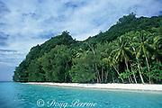 beach in Rock Islands, Palau or Belau, Western Caroline Islands, Micronesia, ( Western Pacific Ocean )