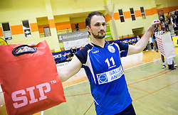 Dejan Cabarkapa of Salonit after the volleyball match between ACH Volley   and Salonit Anhovo in Final of Slovenian Cup 2014/15, on January 17, 2015 in Sempeter, Slovenia. Photo by Vid Ponikvar / Sportida