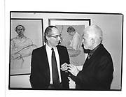 Philip Roth and R.B Kitaj P.V Metropolitan Museum New York 16 Feb 95© Copyright Photograph by Dafydd Jones 66 Stockwell Park Rd. London SW9 0DA Tel 020 7733 0108 www.dafjones.com