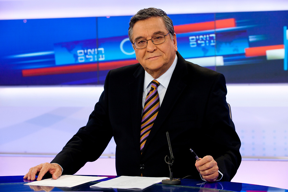 Israeli journalist, television and radio personality, Ya'akov Ahimeir poses for a portrait at the studios of Channel 1 TV, in Jerusalem, Israel, on April 12, 2011.