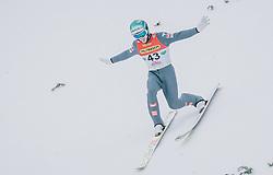 16.02.2020, Kulm, Bad Mitterndorf, AUT, FIS Ski Flug Weltcup, Kulm, Herren, im Bild Michael Hayboeck (AUT) // Michael Hayboeck of Austria during the men's FIS Ski Flying World Cup at the Kulm in Bad Mitterndorf, Austria on 2020/02/16. EXPA Pictures © 2020, PhotoCredit: EXPA/ JFK