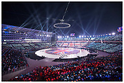 The 2018 Winter Olympic opening ceremony at Pyeongchang Olympic Stadium in Pyeongchang, South Korea