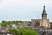 Nederland, Nijmegen, 23-4-2018De St Stevenskerk en de stevenstoren zijn na een grondige restauratie, renovatie, weer in volle glorie te zien. Foto: Flip Franssen