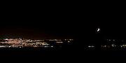 Israel, Galilee, Night photography of the Sea of Galilee