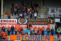 1. divisjon fotball 2018: Aalesund - Tromsdalen. Aalesunds supportere i førstedivisjonskampen i fotball mellom Aalesund og Tromsdalen på Color Line Stadion.