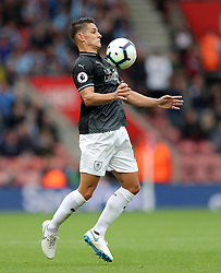 """Burnley's Ashley Westwood during the Premier League match at St Mary's, Southampton. PRESS ASSOCIATION Photo. Picture date: Sunday August 12, 2018. See PA story SOCCER Southampton. Photo credit should read: Andrew Matthews/PA Wire. RESTRICTIONS: EDITORIAL USE ONLY No use with unauthorised audio, video, data, fixture lists, club/league logos or """"live"""" services. Online in-match use limited to 120 images, no video emulation. No use in betting, games or single club/league/player publications."""
