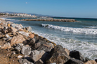 Mediterranean coastline near Puerto Banus, Marbella, Spain, 15th November 2016, 201611153111<br /> <br /> Copyright Image from Victor Patterson, 54 Dorchester Park, <br /> Belfast, UK, BT9 6RJ<br /> <br /> t1: +44 28 9066 1296 (from Rep of Ireland 048 9066 1296)<br /> t2: +44 28 9002 2446 (from Rep of Ireland 048 9002 2446)<br /> m: +44 7802 353836<br /> <br /> e1: victorpatterson@me.com<br /> e2: victorpatterson@gmail.com<br /> <br /> www.victorpatterson.com<br /> <br /> Please see my Terms and Conditions of Use at VICTORPATTERSON.COM. It is IMPORTANT that you familiarise yourself with them.<br /> <br /> Images used on the Internet must be visibly watermarked i.e. ©VICTORPATTERSON.COM within the body of the image and copyright metadata must not be deleted. Images used on the Internet have a size restriction of 4kbs and are chargeable at the then current NUJ rates.<br /> <br /> This image is only available for the use of the download recipient i.e. television station, newspaper, magazine, book publisher, etc, and must not be passed on to any third party. It is also downloaded on condition that each and every usage is notified within 7 days to victorpatterson@me.com<br /> <br /> The right of Victor Patterson to be identified as the author is asserted in accordance with The Copyright Designs And Patents Act (1988).