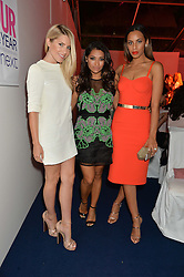 Left to right, MOLLIE KING, VANESSA WHITE and ROCHELLE HUMES at the Glamour Women of The Year Awards in Association with Next held in Berkeley Square Gardens, Berkeley Square, London on 3rd June 2014.