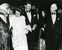 1959 Ronald and Nancy Reagan at a Grauman's Chinese Theater movie premiere
