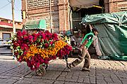 Flower vendors at the Benito Juarez Market in Oaxaca, Mexico.