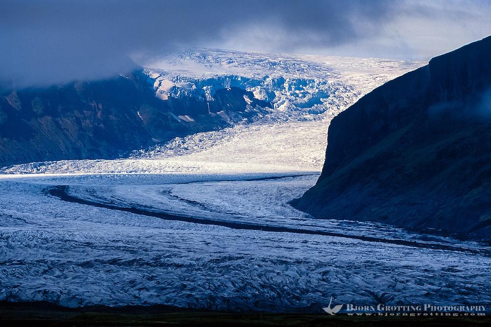 Iceland. Glacier in Skaftafell, a part of Vatnajökull National Park.