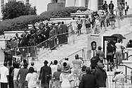 People wait in line to pay their respects to the late U.S. Congressman John Lewis, a pioneer of the civil rights movement and long-time member of the U.S. House of Representatives who died July 17, lies in state at the Alabama State Capitol in Montgomery, Alabama, U.S. July 26, 2020., Alabama, U.S. July 26, 2020., Christopher Aluka Berry