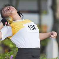 Tan Xin Ning of Victoria Junior College clinched gold in the A Division Girls Finals with a final distance of 10.68m (Photo © Stefanus Ian/Red Sports)